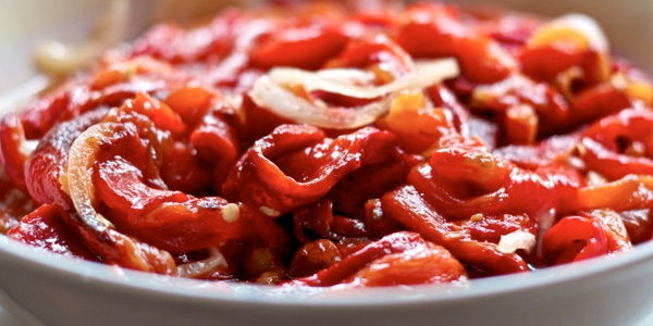 Spanish red peppers salad