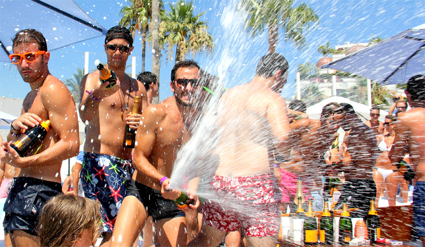 Champaign party, summer in Marbella and Puerto bonus
